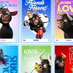 Print these Adora-BULL Valentine's Day Cards from Ferdinand! #Ferdinand