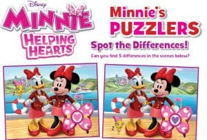 Minnie: Helping Hearts Activity Sheets for a Fun Afternoon!