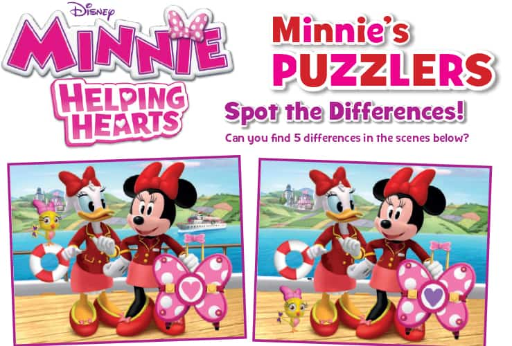 minnie happy helpers helping hearts activy sheets