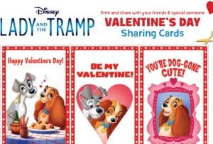 Celebrate Valentine's Day with Lady and the Tramp with Recipes & Printable Cards