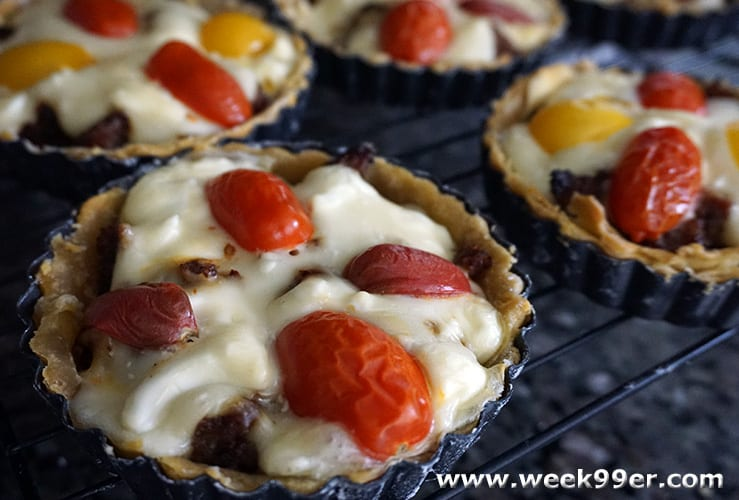 Savory Sausage And Cheese Tarts With Ricos Cheese