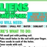 Aliens Ate My Homework Activity Sheets