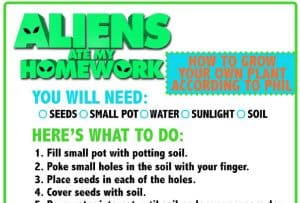 aliens activity sheets