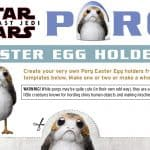 Porg Easter Egg Holders + Bonus Clips from The Last Jedi #thelastjedi