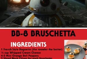 Recipes Inspired by Star Wars: The Last Jedi + Gag Reel Bonus Video #thelastjedi