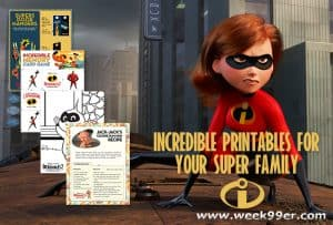 Incredible Printables for Your Super Family #Incredibles2 #Incredibles2Event