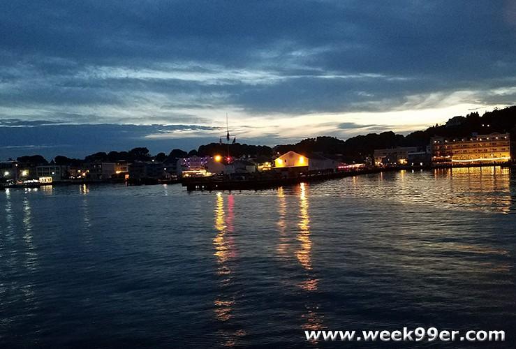Sunset cruise Mackinac Island
