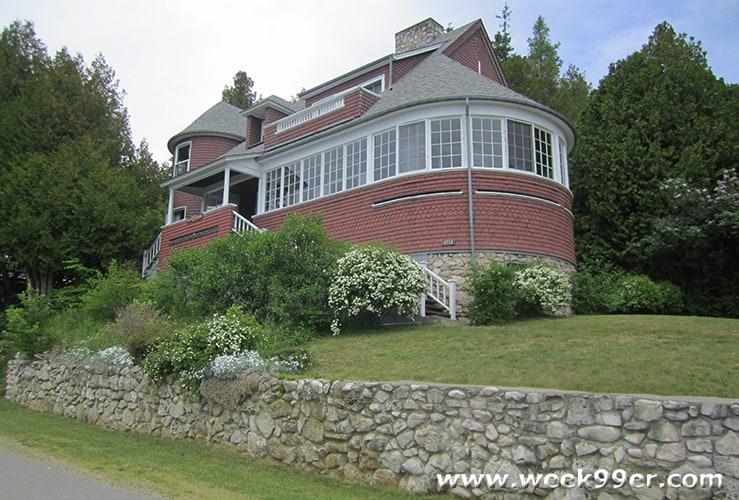 Mackinac Island East Bluff Architecture tour Michigan