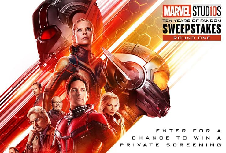 Marvel Studios Ten Years of Fandom Sweepstakes