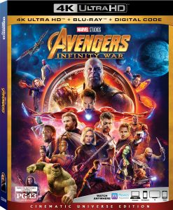 infinity war at home release
