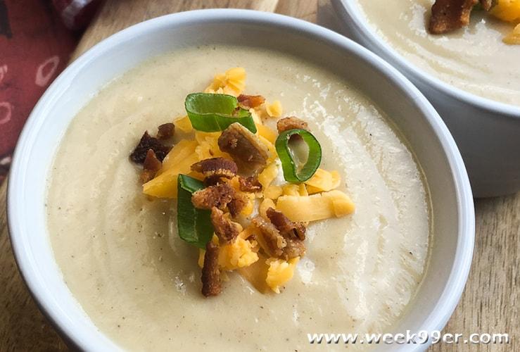 loaded cauliflower Soup Recipe - instant pot