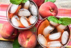 30 Minute Fresh Brewed Ginger-Peach Iced Tea