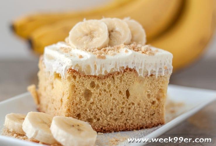 gluten free banana poke cake recipe