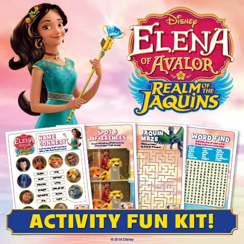 Elena of Avalor Activity Sheets