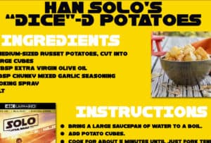 "Get Ready for Solo: A Star Wars Story Dinner and Movie with Han's ""Dice""-D Potatoes #HanSolo"