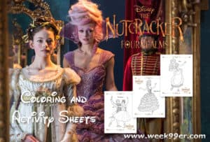 Disney's The Nutcracker and the Four Realms Coloring Sheets & Activity Sheets #DisneysNutcracker