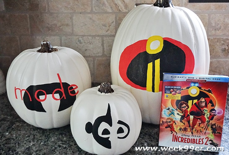 incredibles inspired pumpkins
