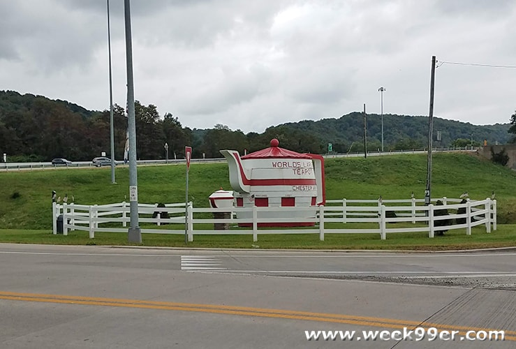World's Largest Tea Pot West Virginia