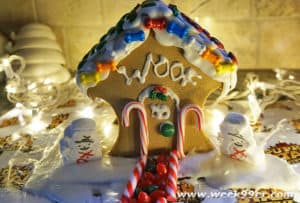 Puppy Star Christmas Gingerbread House