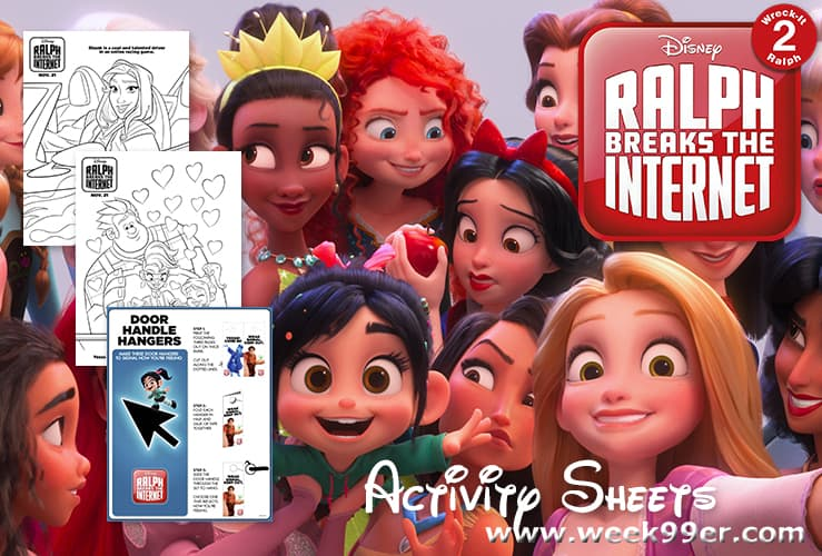 Wreck It Ralph - Ralph Breaks the Internet Printable activity sheets