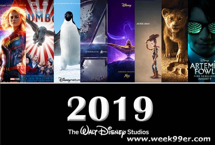 2019 walt disney slate