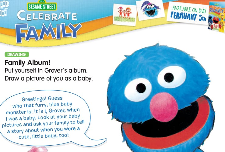 sesame street celebrate family activity sheets free