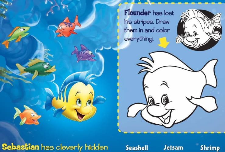 little mermaid activity sheets