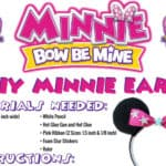 Make Your Own Minnie Bow Be Mine Ears for Your Next Trip to the Park!