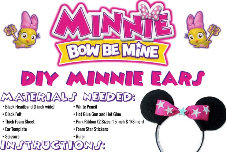 make your own minnie mouse ears