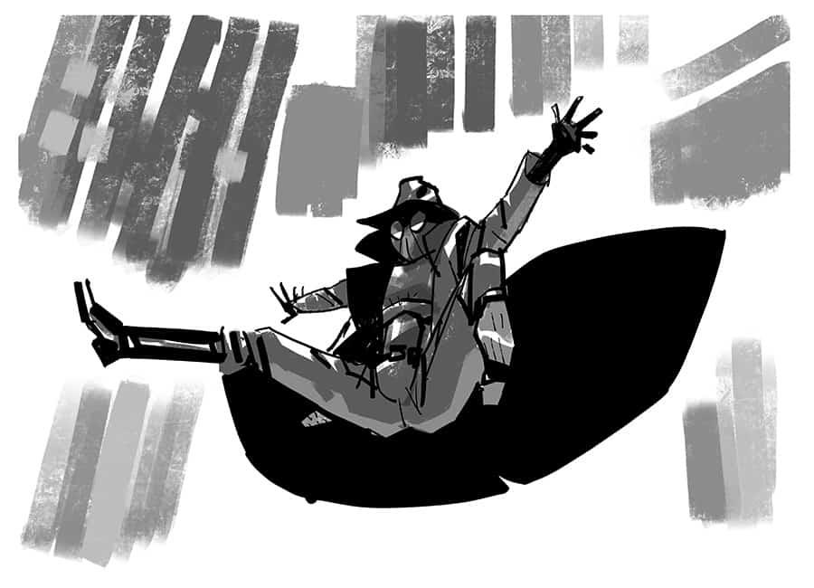 Spiderman Noir Concept Art