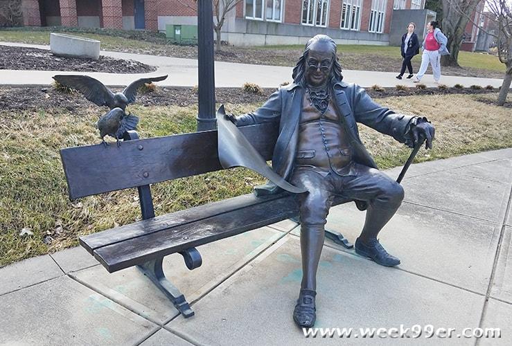 Ben Franklin Statue Franklin University