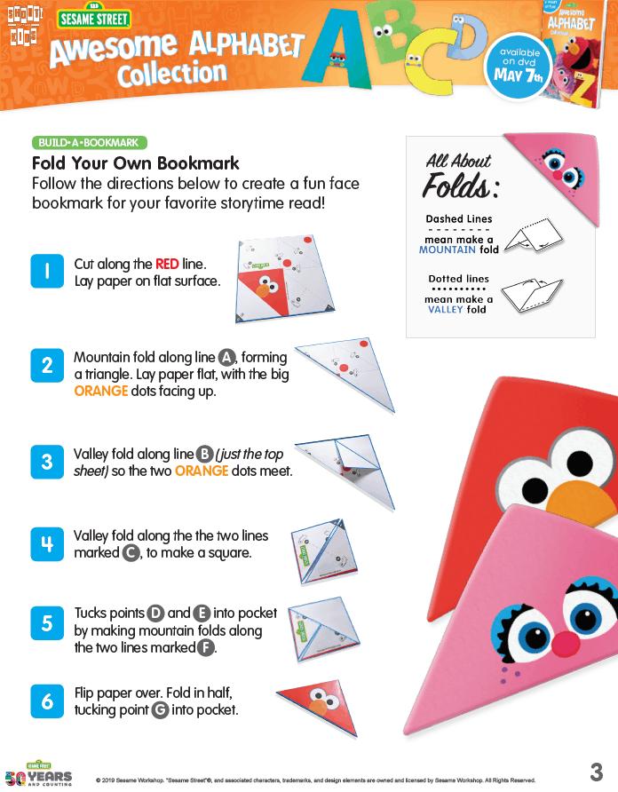 Sesame Street Fold Your Own Bookmark