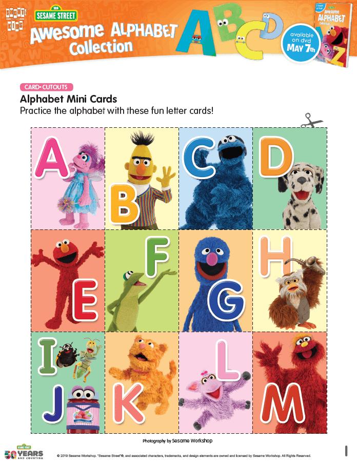Sesame Street Alphabet Mini Cards