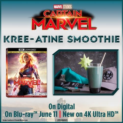 Kree-Atine Smoothie Recipe Captain Marvel