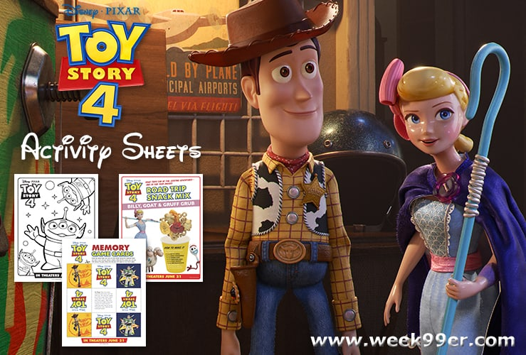 toy story activity sheets