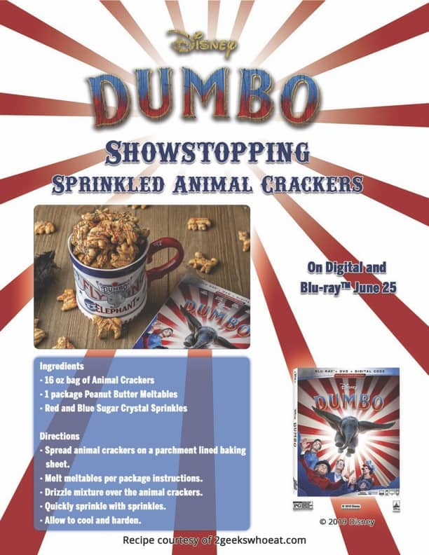 Dumbo Animal Crackers Recipe