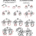Learn How to Draw Jaq and Gus from Cinderella