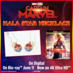 Get Ready for Your Captain Marvel Movie Night with a Hala Star Necklace Button and Skrull Behind-the-Scenes Clips