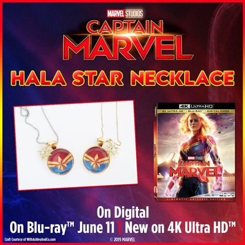 Captain marvel Necklace Craft DIY