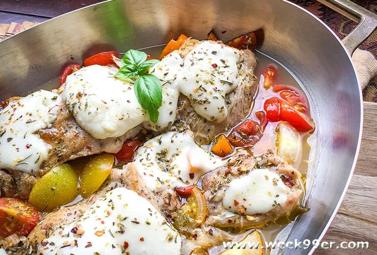 Mozzarella Chicken Skillet Keto Recipe