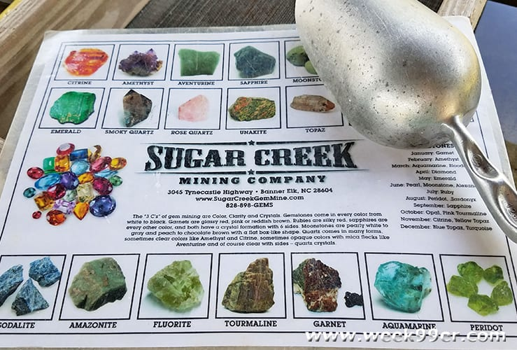 Sugar Creek Gem Mining