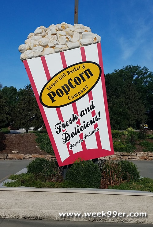 Giant Popcorn Box Jasper, Indiana