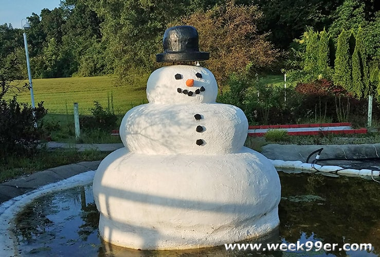 Melted Snowman Santa Claus Indiana