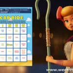 Toy Story 4 Car Ride Bingo Printables