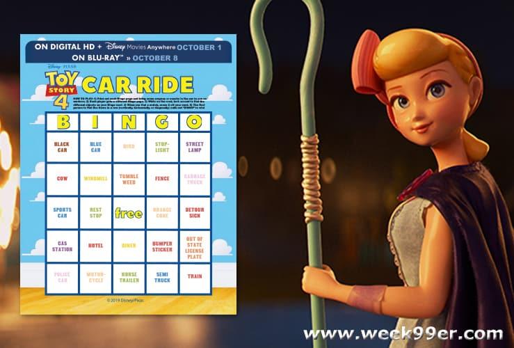 toy story 4 bingo