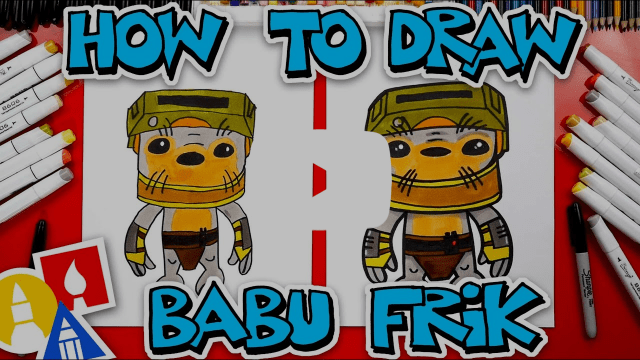Draw Babu Frik Activity Sheet