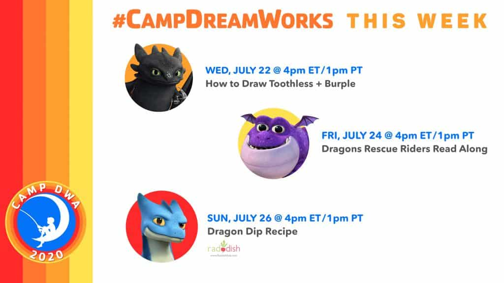 Camp DreamWorks Dragons Activities