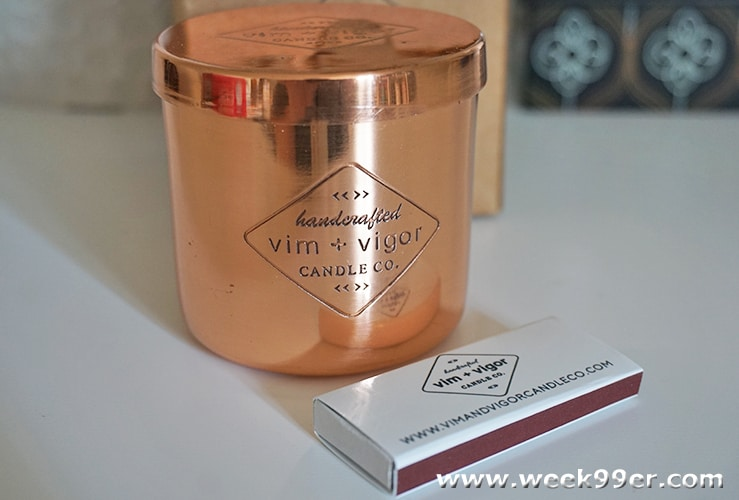 vim and Vigor candle review