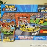 Race and Crash in the all New Team NASCAR tracks and Sets