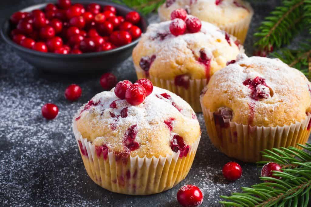 Gluten Free Cranberry Christmas Muffins